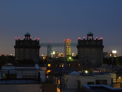水道週間の昼と夜 駒沢給水塔